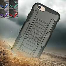 Belt Clip Hybrid Rugged Hard Case Cover Holster Stand For Apple iPhone 6 6S plus