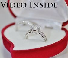 Luxury*2.CT Princess Cut Engagement Ring Wedding Diamond Ring 22KT Made in Italy