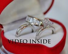 Love*3 Pieces Ring Set Engagement Ring Wedding Diamond Ring 22KT S Made in Italy