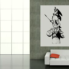 GOD OF WAR STATUE ATHENS GREEK WALL STICKER DECAL huge removable vinyl uk TO8