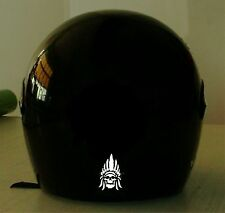 INDIAN SKULL CHIEF REFLECTIVE MOTORCYCLE HELMET DECAL.....2 FOR 1 PRICING