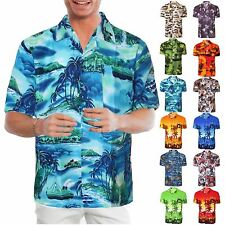 MENS FLORAL HAWAIIAN SHIRT TOP SURF PLUM BEACH ISLAND PARTY HOLIDAY FLOWER PRINT