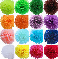 "12"" Colorful Tissue Paper Pom Poms Flower Ball Wedding Birthday Party Decoration"