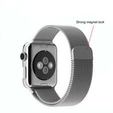 New Stainless Steel Magnet lock Milanese Loop Watch Band Strap For Apple Watch