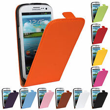 Genuine Leather Magnetic Vertical Flip Cases Covers For Samsung GALAXY S3 I9300
