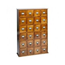 Library Card Catalog Style Multimedia Storage Apothecary Cabinet Craft Sewing CD