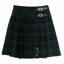 "Tartanista Womans Black Watch 20"" Wrap Around Knee Length Kilt Skirt 6-28"