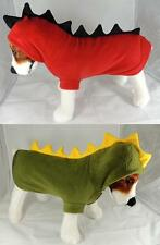 Hooded Dinosaur Costume for Dogs - 4 Sizes - Dog Clothes - Green Red ~ HALLOWEEN