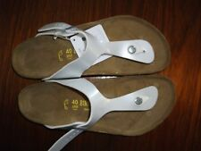 BIRKENSTOCK - GIZEH - PEARLY WHITE - VARNISH RRP $127 SAVE $27
