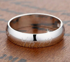 silver personalized couple rings name engraved custom the lord of the ring