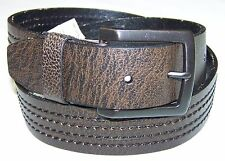 LEVI'S Men's Genuine Leather Stiched Belt Brown 11LV3226 NEW & AUTHENTIC