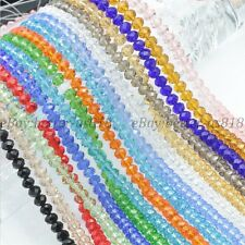 100Pcs Top Quality Czech Crystal Faceted Rondelle Spacer Beads 4MM 6MM