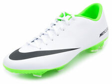Nike Mercurial Victory IV FG Soccer Cleats sz 6 & 7 White Green Black 555613-103