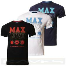 Mens T-shirt Tee Max Edition Printed Graphic Crew Neck 100% Cotton Top Max Brand