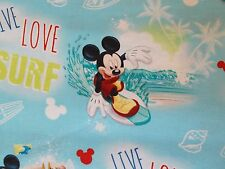 Disney Mickey Mouse Live Love Surf Fabric Fat Quarter, By the Yard  Beach Ocean