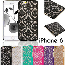 Lace Damask Vintage Pattern Hard Clear Case Cover For Apple iPhone 5 5S 6/6 Plus