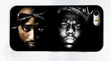 NEW TUPAC 2PAC & BIGGIE BIG RAP PHONE CASE COVER FOR IPHONE 6 6 PLUS 5C 5 5S 4 S