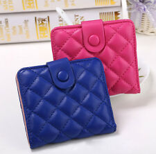 New Womens Ladies Envelope Leather Wallet Button Clutch