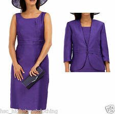 JACQUES VERT Women Ladies Royal Purple Occasion Wedding Party Dress or Jacket