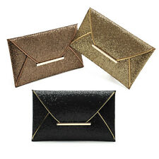 New Womens Sequins Evening Party Clutch Envelope Handbag Cocktail Prom Bag Purse