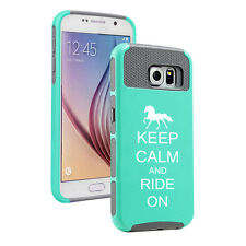 For Samsung Galaxy S5 S6 Edge Shockproof Impact Case Keep Calm Ride On Horse