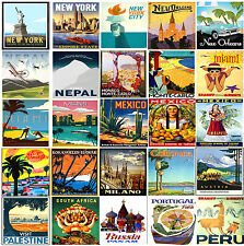 HUGE LAMINATED A4 VINTAGE RETRO TRAVEL & RAILWAYS Posters Nostalgic Wall Chart