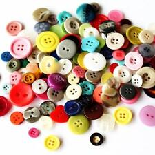 Bag of Random Mixed Buttons - Assorted Colours & Designs - Shank & Hole