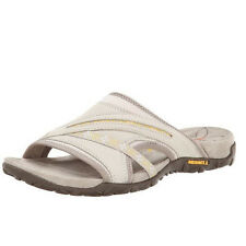 Merrell TERRAN SLIDE Womens Silver Lining Leather J22178 Slip On Slide Sandals
