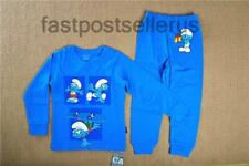 THE SMURFS Cotton Boys Toddler Kids Pajamas Pyjamas Outfit  Sleepwear Set 1-6