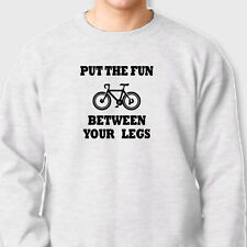 Put The Fun Between Your Legs Biking T-shirt Funny Rude Bicycle Crew Sweatshirt