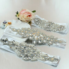 Wholesale Wedding Bridal Dress Bead Rhinestone Belt Sash Waistband Hairband Trim