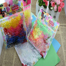 400pcs Rubber Hairband Rope Ponytail Holder Ties Braids Plait Elastic Hair Band