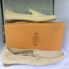 Tod's light camel suede driving shoe, NIB, very small 11's