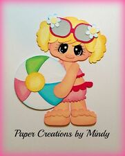 Craftecafe Mindy Summer Beach Ball girl premade paper piecing scrapbook page