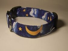 Wet Nose Designs Sweet Dreams Night Moon Stars and Clouds Dog Collar Celestial