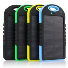 Dual-USB 5000mah Waterproof Solar Power Bank Battery Charger for Phone
