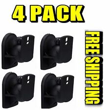 4 Pack Lot - Universal Satellite Speaker Black Wall Mount Brackets Bose