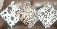 Animal Printed Cushion Cover Faux Fur Coded and Zipped 5 Prints, All Sizes
