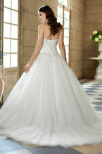 New White/ivory lace Wedding Dress Prom Bridal Gown Stock Size 6 8 10 12 14 16