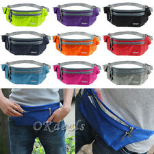 Waterproof Running Belt Bum Waist Pouch Fanny Pack Camping Sport Hiking Zip Bags