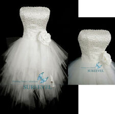 Strapless Beaded Short Wedding Dress Party Cocktail Dress Homecoming Prom Dress