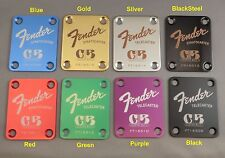 """Fender """"Custom Built"""" Guitar Neck Plate - Engraved in your choice of 8 colors"""