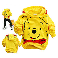 Toddler Boy Hoodies Tops Tracksuit Winnie the Pooh Baby Clothes Kids Coat Suit