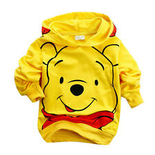 Toddler Boy Hoodies Kids Tops Tracksuit Winnie the Pooh Baby Clothing Coat Suit