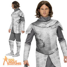 Adult Deluxe Medieval Knight Crusader Warrior Costume Mens Fancy Dress New