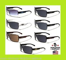 Mens HD Black Lens Aviator Sunglasses Outdoor Driving Fishing Glasses Eyewear