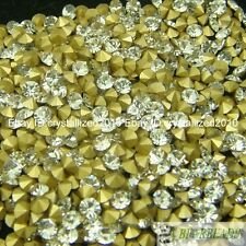 Clear Top Quality Czech Crystal Rhinestones Round Pointed Foiled Back DIY Pick