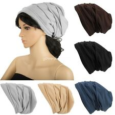 Unisex Women Men Fleece Knit Summer Hip-hop Baggy Beanie Ski Slouchy Cap Hat
