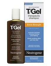 Neutrogena T-Gel Therapeutic Shampoo, Extra Strength, Clean Scent, 6 Ounce
