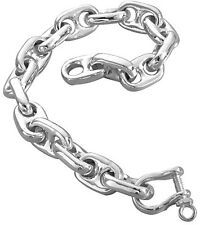 GAT Hawaiian Large Silver Anchor Chain Bracelets Jewelry